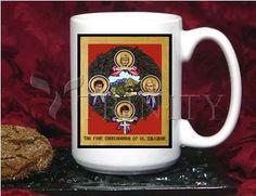 Coffee-Tea Mug (15 oz) - Four Church Women of El Salvador by L. Williams   Trinity Stores
