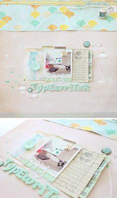 #papercrafting #scrapbook #layout idea: