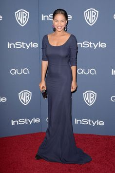 Joy Bryant at the InStyle Golden Globes party. Joy Bryant, Nice Dresses, Formal Dresses, Dressed To The Nines, Celebs, Celebrities, Frocks, Celebrity Style, Golden Globes