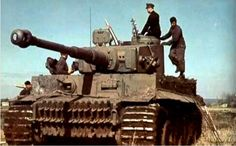 "PzKpfw VI Ausf. E The tank was given its nickname ""Tiger"" by Ferdinand Porsche. Rare color photo."