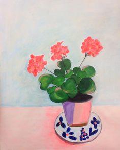 Blomster i urtepotte af Katrine Aastrøm Christensen