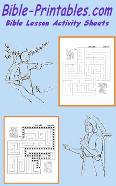 Sunday School Lesson Maze Activity Sheets - Bible-Printables.com