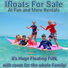 Ifloats For Sale at Fun and More Rentals! Anna Maria Island! Only 3 Left in Stock!! You've seen these giants on the water...and you've wondered what they are! They are Huge Floating FUN with room for the whole Family! Ultra sturdy and durable! Only 3 Left in stock! Own yours Today! For more information email us at: FunandMoreRentals@yahoo.com  Click on this YouTube link to learn more about Ifloats!  https://youtu.be/tuk0MOKcml0