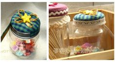 6 Ideas para decorar frascos de vidrio y hacer lindas manualidades ~ Haz Manualidades Mason Jars, Banana, Perfume, Glass, Home Decor, Painting, Jars, Ideas, Painting On Glass