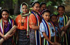 Pipil girls. El Salvador, CA