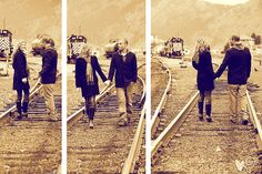 train tracks portraits
