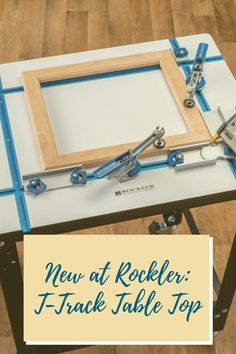 All the work-holding versatility of our T-Track Table, but in a compact size that's ideal where space is limited. Get your own today!  #newatrockler #newrocklerproduct #ttrack #ttrackaccessories #tabletop
