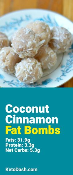 Trying this Coconut Cinnamon Fat Bombs and it is delicious. What a great keto recipe. #keto #ketorecipes #lowcarb #lowcarbrecipes #healthyeating #healthyrecipes #diabeticfriendly #lowcarbdiet #ketodiet #ketogenicdiet