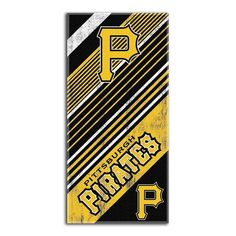 Pittsburgh Pirates MLB Fiber Reactive Beach Towel (Diagonal Series) (28in x 58in)