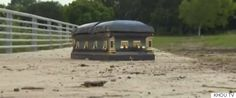 A Houston man is suing the cemetery where his wife was buried eight years ago after the woman's casket rose up out of the ground during recent floods that wreaked havoc in Texas.He said the tragedy never should have happened because his wife was interred in a sealed concrete vault,