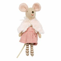 "Get ready to play with the sweetest little mouse! The Danish brand Maileg is a lifestyle design company with a modern concept established in 1999. Size: 4""H Com"