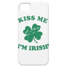 Kiss me I'm Irish Vintage iPhone 5 Cases