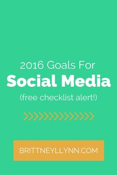 Are you ready to kick 2016 in the butt?! Spend some time creating specific goals for your social media platforms!