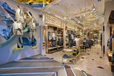 Pull & Bear Store Interior Design, Barcelona, Spain, pinned by Ton van der Veer