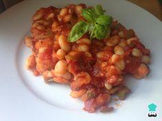 Alubias con tomate - ¡Fáciles y listas en 30 minutos! Batch Cooking, Chana Masala, Deli, Healthy Recipes, Healthy Food, Ethnic Recipes, Tan Solo, Vitamins, Fiber