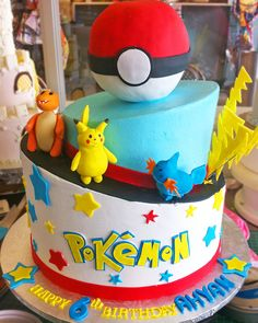 A Pokemon birthday cake! Cake # 117.