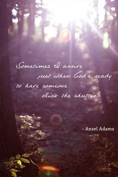Inspirational Quotes For Photographers  Ansel Adams Content