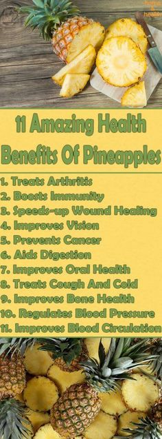 Pineapples have several health benefits due to their wealth of nutrients. They contain vitamins, and minerals, including potassium, copper, calcium, magnesium, vitamin C, beta-carotene, thiamin, vitamin B6, and folate. #mineralshealth