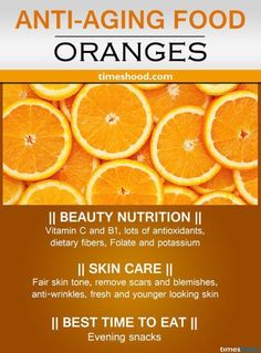 Orange for anti-aging. Rich in anti-aging vitamin C. Anti-wrinkles fruits for younger looking skin. Best Anti-aging tips. Orange for anti-aging. Rich in anti-aging vitamin C. Anti-wrinkles fruits for younger looking skin. Best Anti-aging tips. Anti Aging Tips, Best Anti Aging, Anti Aging Cream, Health And Nutrition, Health And Wellness, Health Tips, Fruit Nutrition, Vitamin C, Food For Glowing Skin