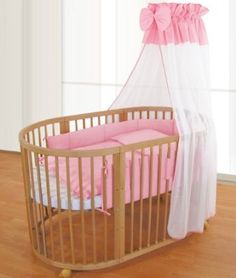 Amazon.com: ComfortBaby© BABY- CHILDREN bed - Oval - Solid Wood - 3 in 1 ALL INCLUSIVE - used as a crib, playpen, bed, including mini. Sky, covers, blankets, mattresses, cot bumper and many more. - Salmon: Baby. Only $599 and designed to grow with them to 5-7 years of age because it continues to convert.