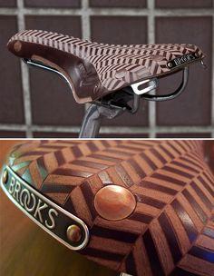 Tweed Run Custom Leather Engraved Brooks Saddle