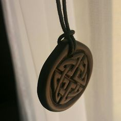 Awesome celtic knot jewelry with a chain or a leather cord nice celtic knot necklace aloadofball Image collections