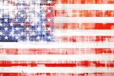 State Dreams Canvas Wall Art by Marmont Hill Inc. on American flag artwork, canvas. American Flag Painting, American Flag Wall Art, Canvas Artwork, Canvas Art Prints, Painting Prints, Paintings, Flower Canvas, Flower Wall, Dream Art