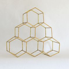 Gold Honeycomb Wine Rack — Feathered