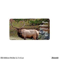 Elk Address Sticker