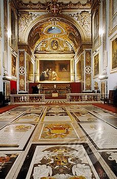John church vestry, Caravaggio painting, giltwood carvings & Marble tombstones set in the floor. Republic of Malta. Malta Gozo, Church Pictures, Malta Island, Cathedral Church, Place Of Worship, Kirchen, Mosque, Maltese, Sicily