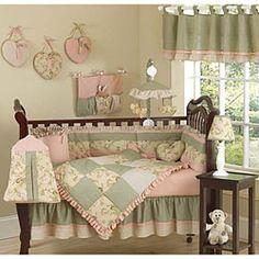 Shabby Chic Crib Bedding & Shabby Chic Baby Bedding Sets - by Sweet JoJo Designs Baby Girl Nursery Bedding, Modern Baby Bedding, Baby Crib Bedding Sets, Chic Bedding, Crib Sets, Pink Bedding, Baby Cribs, Chic Nursery, Baby Room