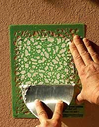 Repair a textured wall yourself with a special DIY tool designed for the job.