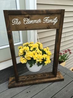 Decorative Hanging Basket Stand Welcome Sign Optional