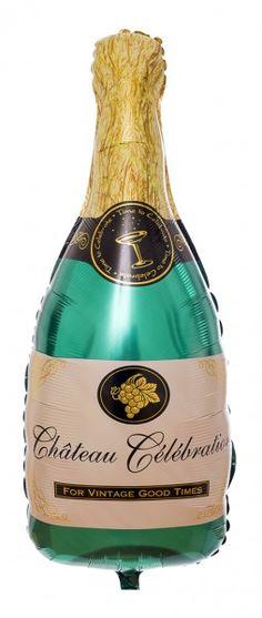 Folienballon Champagnerflasche mit Gas