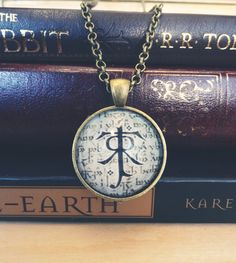 Tolkien Symbol Necklace  Lord of the Rings Jewelry by tiedyejedi, $18.00