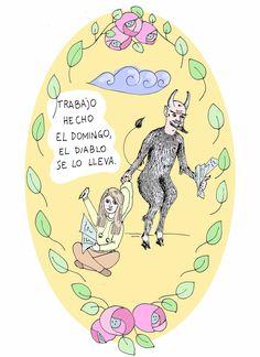 Trabajo hecho el domingo, el diablo se lo lleva. = il lavoro fatto di domenica se lo porta via il diavolo. #idioms #español #españolidioms #domingo #domingoidioms #grammateca #cristinacomi