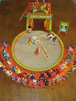 Playmobil - Diorama Cirque - Acrobates, voltigeuse, clowns, dresseur