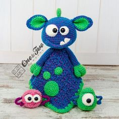Mel the Monster Lovey / Security Blanket PDF Crochet Pattern