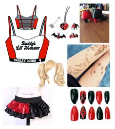 """Harley Quinn (revised)"" by jason-becz ❤ liked on Polyvore"