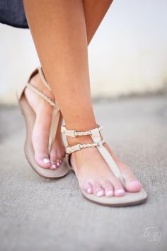 In Luck Now, this style name sums it up! We're bringing you the perfect staple sandal, the braided leather straps and double buckles keep this sandal classy and