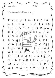 Slide6 School Lessons, Word Search, Preschool, Classroom, Printables, Math, Words, Roxy, Embroidery
