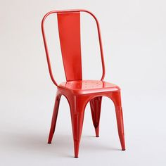 One of my favorite discoveries at WorldMarket.com: Spicy Orange Cargo Stacking Chair, Set of 2