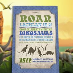 Dinosaur invitation dinosaur birthday dinosaur birthday by bernelo dinosaur invitation solutioingenieria Images