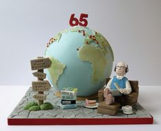 Globe cake by The Little Kendal Cakery