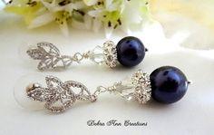 Swarovski Deep Purple Pearl Crystal by DebraAnnCreations on Etsy