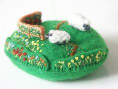 ▹ Lambkin Hill - Cross-stitch embroidery kits by Sakoran
