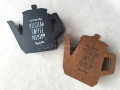 Wooden Washi Tape Dispenser  Coffee Pot  Black / Tan by chickippie
