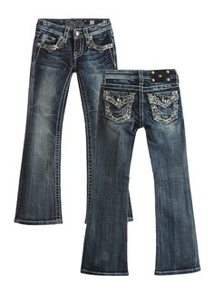 Miss Me Kids Tween Bootcut Jeans with Flap Pockets