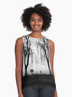 'The Weeping Song' Sleeveless Top by Hercules Milas Lady Girl, Hercules, Shades Of Grey, Chiffon Tops, Songs, Popular, Tank Tops, Clothes, Women