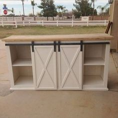 Make your own kitchen island on a budget by up-cycling wood, cabinets and counter tops.